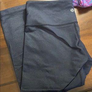 Lululemon Crop Yoga Pants - Denim Blue Color